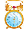 Classic gold color alarm clock isolated on white vector image vector image