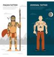 tattoo studio vertical banner set vector image
