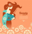 Beautiful mother silhouette with baby in a sling vector image vector image