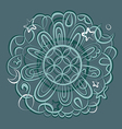fantasy mandala ornament vector image
