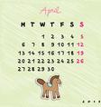 2015 horses april vector image vector image
