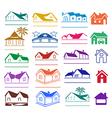 Buildings signs logo set vector image vector image
