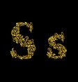 Decorated letter s vector image vector image