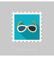Sunglasses flat stamp Summer Vacation vector image