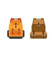 Backpacks isolated school vector image