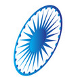emblem of the flag of india vector image