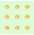 minimalistic flat tiger emotions icon set vector image
