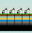 oil pumps and rig on sky background vector image