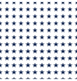 Seamless pattern with white stars vector image