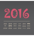 set happy new year 2016 design vector image