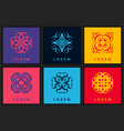 set of six abstract logo template vector image