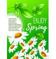 spring flower poster for springtime holiday design vector image