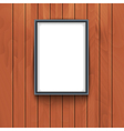 frame on wooden wall background Photo art vector image