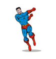 cartoon super hero running punching vector image