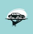 taxi service logo car wash dealership dealer vector image