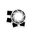 photography logo with polaroids vector image vector image