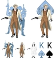 King of spades caucasian mafioso godfather with vector image vector image