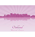 Oakland skyline in radiant orchid vector image