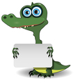 Crocodile and white background vector image