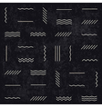 monochrome retro lines pattern vector image vector image