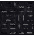 monochrome retro lines pattern vector image