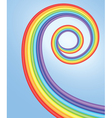 background with spiral rainbow vector image vector image