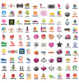 biggest collection of logo design and fashion vector image