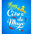Cinco De Mayo hand drawn lettering vector image