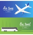Colorful flat banners set Quality design vector image