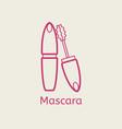 cosmetic mascara thin line icon vector image