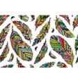 Feather seamless pattern for your design vector image