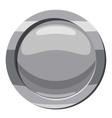 Gray button icon cartoon style vector image