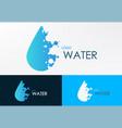 logo water liquid with dot vector image