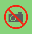 No photo camera sign vector image