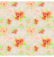 Ornate floral endless pattern vector image