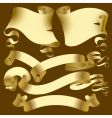 set of old gold banners vector image