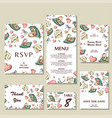 set of wedding invitations wedding cards template vector image