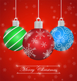 Merry Christmas background with ornament ball vector image
