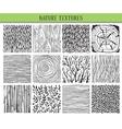 Set of twelve hand drawn ink abstract textures vector image vector image