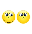 Characters of yellow emoticons vector image