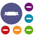 ribbon banner icons set vector image