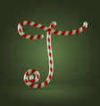 Candy cane abc t vector