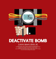 Deactivate Bomb Graphic vector image vector image