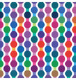 bright seamless pattern from wavy lines vector image