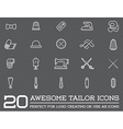 Set of Tailoring Tailor Sew Elements and Sewing vector image