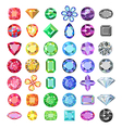 Colored gems cuts set vector image