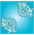 blue floral napkin vector image