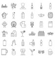 drink for party icons set outline style vector image