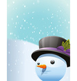 Snowman background vector image