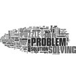 solve word cloud concept vector image